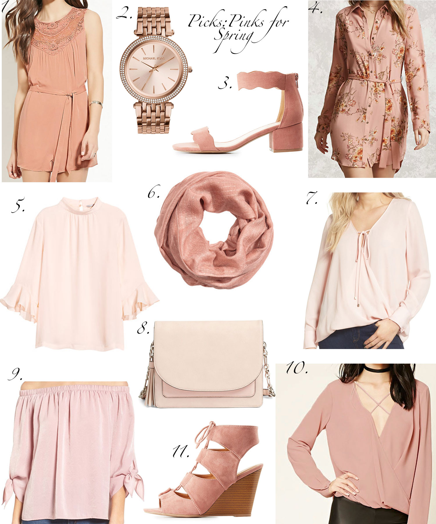 picks pinks for spring