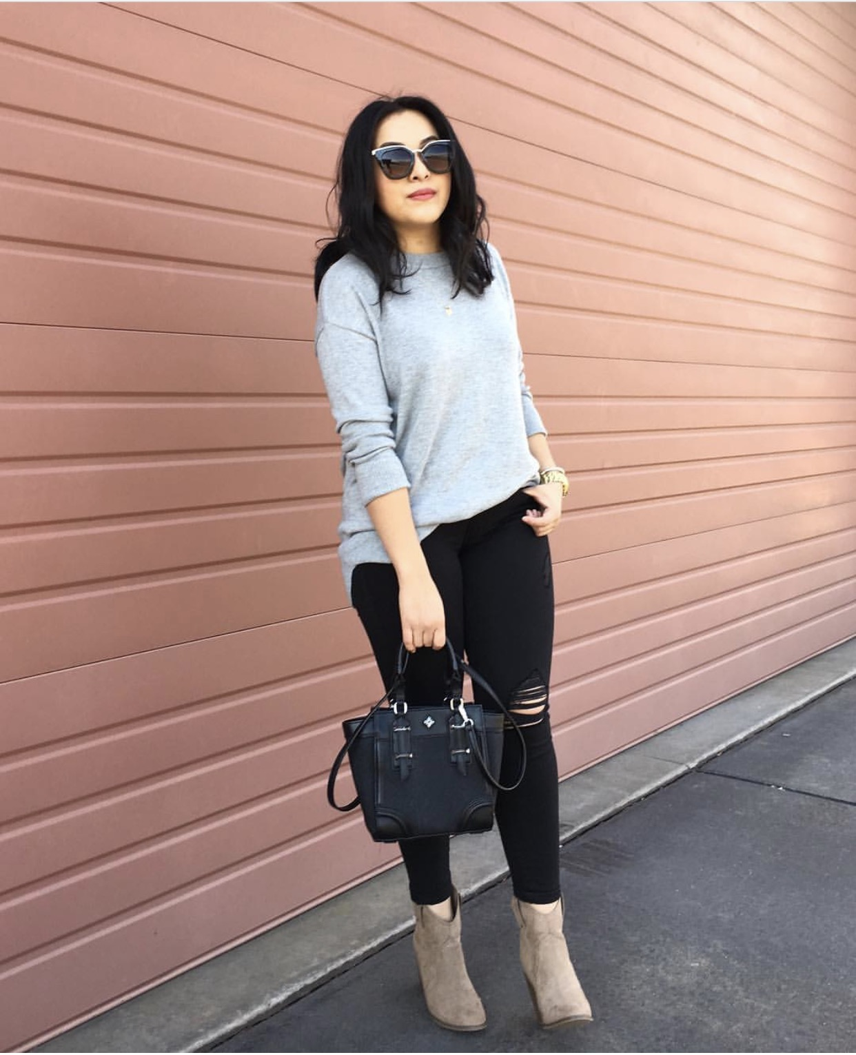 cozy casual outfit idea for winter
